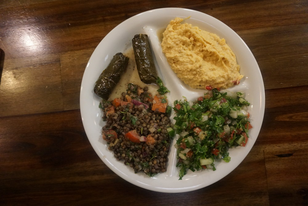 Lebanese vegan food in Raleigh, NC