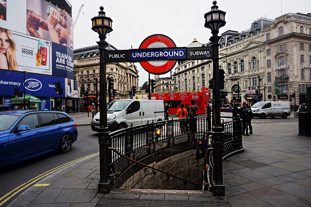 The Underground at Picadilly Circus