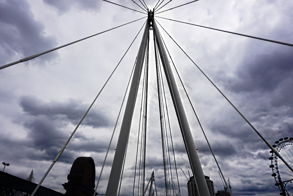 Walking a bridge on the way to see Big Ben & The London Eye (you can see The London Eye in the bottom right corner)!