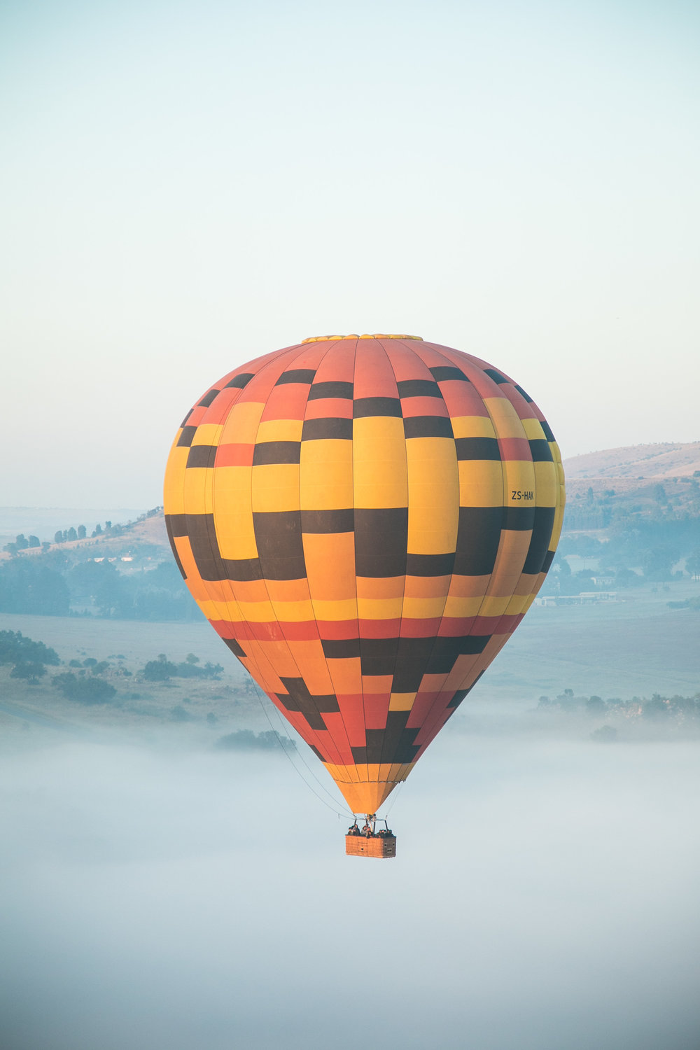 5. Went on a hot air balloon! -