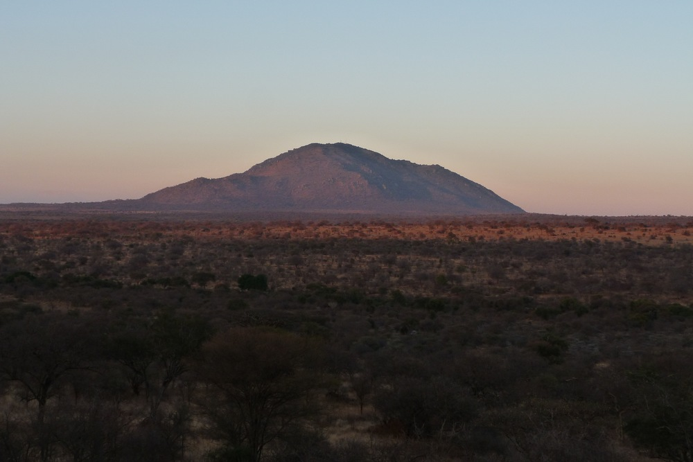 The view of Lolkisale Mountain from the Maasai Safari Camp
