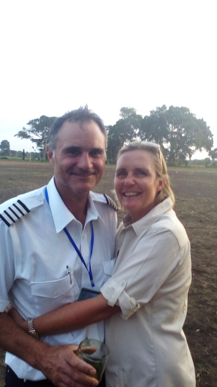 Captain Alex and his very happy wife Saskia