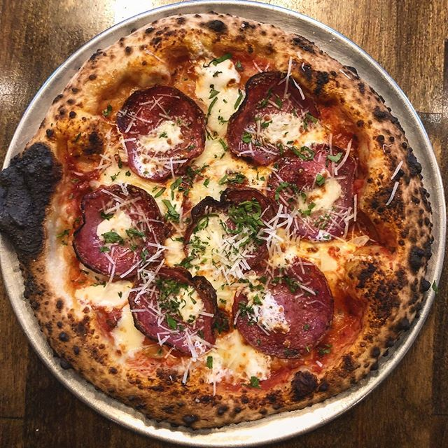 Have you checked out our winter menu changes? Here's a preview of our new Sopressata pizza with Pecorino Romano - a perfect pair for chilly weather!  #bufadpizza #phillypizza #phillyeatsgood