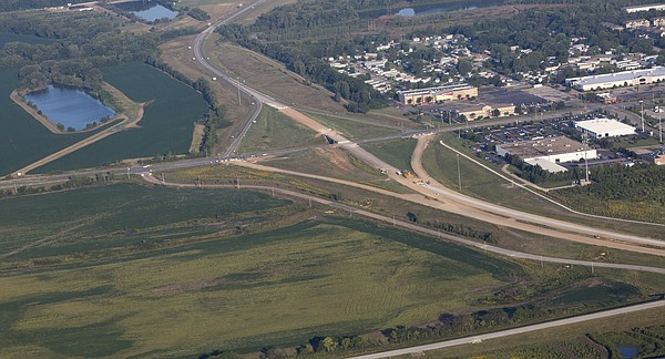 Aerial of proposed KTEN CROSSING site.