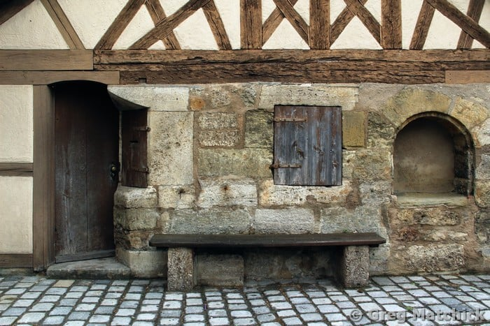 Building and Bench in Rothenburg