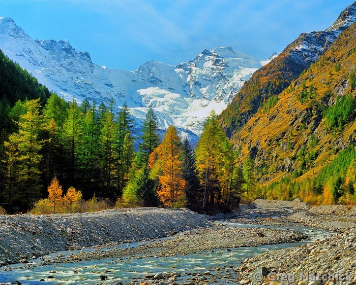 Val di Cogne, Gran Paradiso Park in the Val d'Aosta of northern Italy