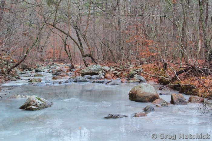 Ice on Pickle Creek 1