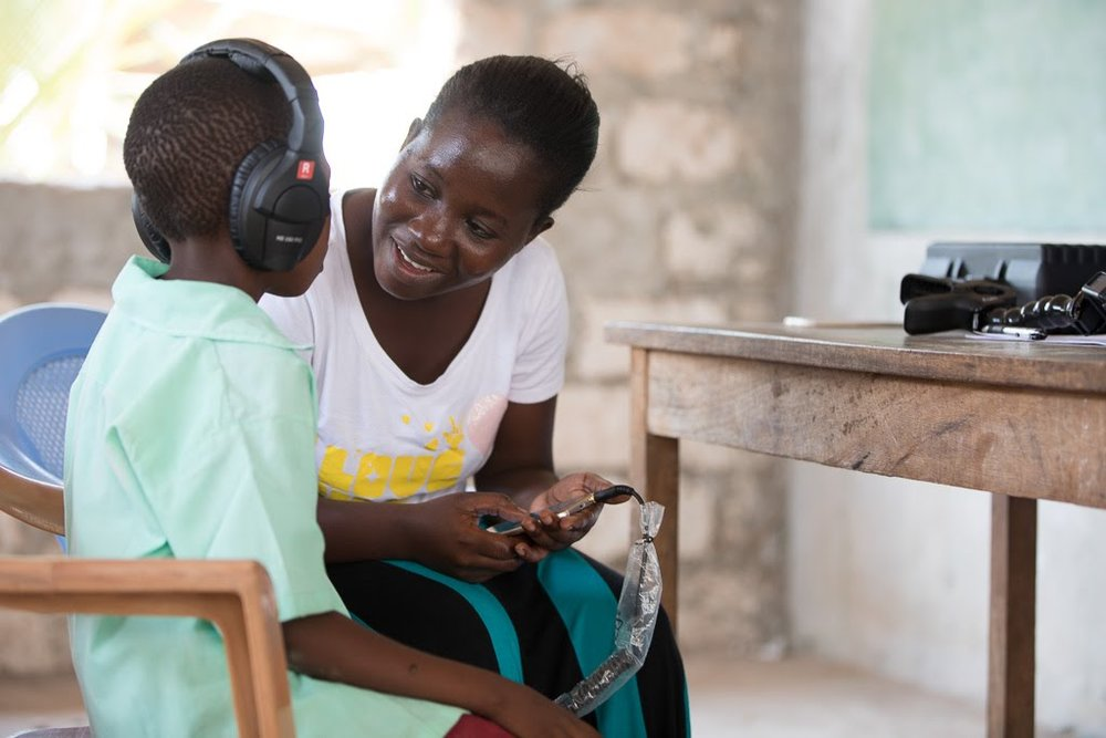 Hearing screening in Malindi, Kenya, October 2017.