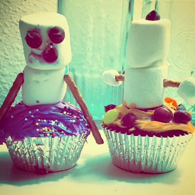 The Marshmallow Snowmen Cupcakes were a hit with the 6-year olds. Highly recommended.