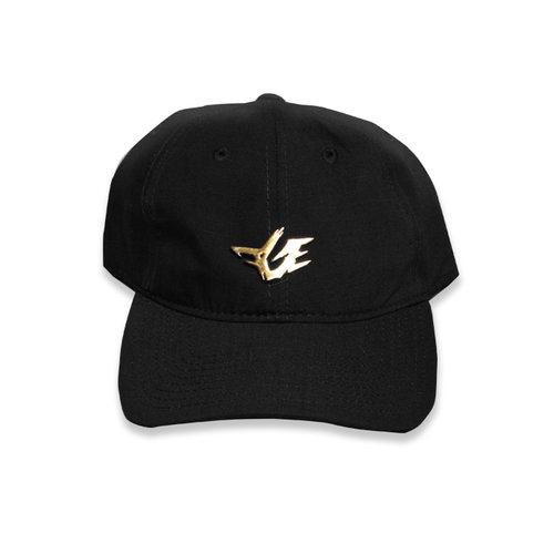 Gold Rapper Dad Hat (Black) — FGE ONLINE STORE a119aba60ea