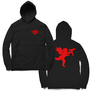 a9a5454a37b0ee FGE Angel With An Uzi Hoodie (Black Red)