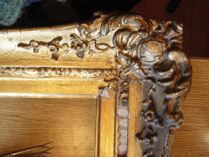 before treatment. decorative frame