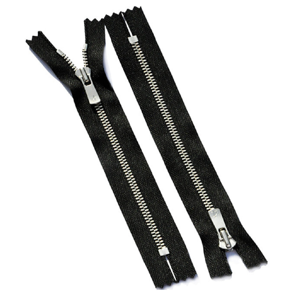 Zippers for footwear and clothing