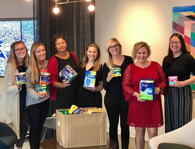 We collected hundreds of feminine hygiene products for donation to The Period Project and delivered many of  them on Saturday for distribution to MNPS. Thanks go to Tina Peyton for collecting dead stock, Tiffany Wondrow for storing supplies, and Lori Parker for delivering. Thanks to all who donated. There is still time to donate at the October luncheon tomorrow! #nashvilleperiodproject @drkishasimmons @theachiever.me