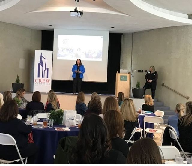 We had a wonderful Luncheon at Cheekwood for the month of April.  Wendy Mann, CEO of CREW Network was our speaker.  We had a total of 121 attendees.  Thank you to our sponsors:  Aerial Innovations and Cosgrove Enterprises  #crewnashville #crewnetwork #crew  #cheekwood #cheekwoodinbloom