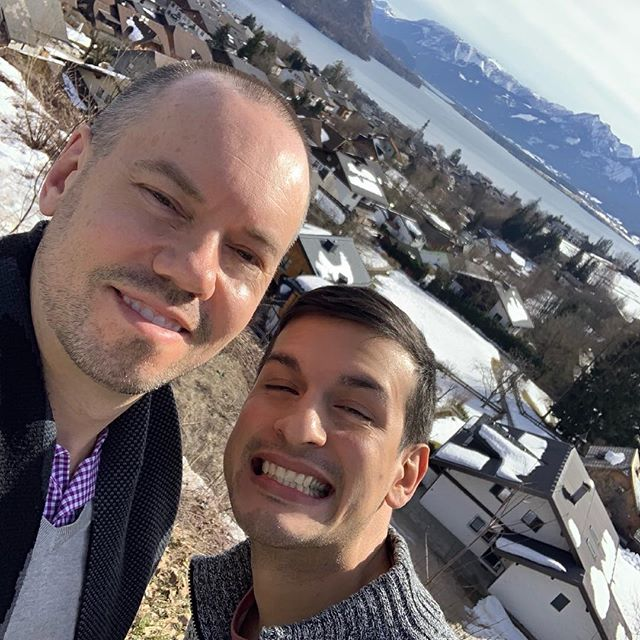 """The Hills Are Alive.."" such a fun day in and around Salzburg seeing the spots they filmed THe Sound Of Music and seeing gorgeous Salzburg. #gaytravel #mozart #austria #hillsarealive #soundofmusic #sachertorte"