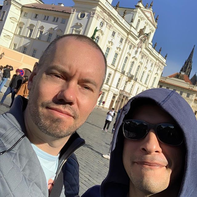 Gorgeous day in Prague. Amazing city and it's stunning how much of the architecture has survived over the years. #gaytravel #prague #czechrepublic #johnlennonwall