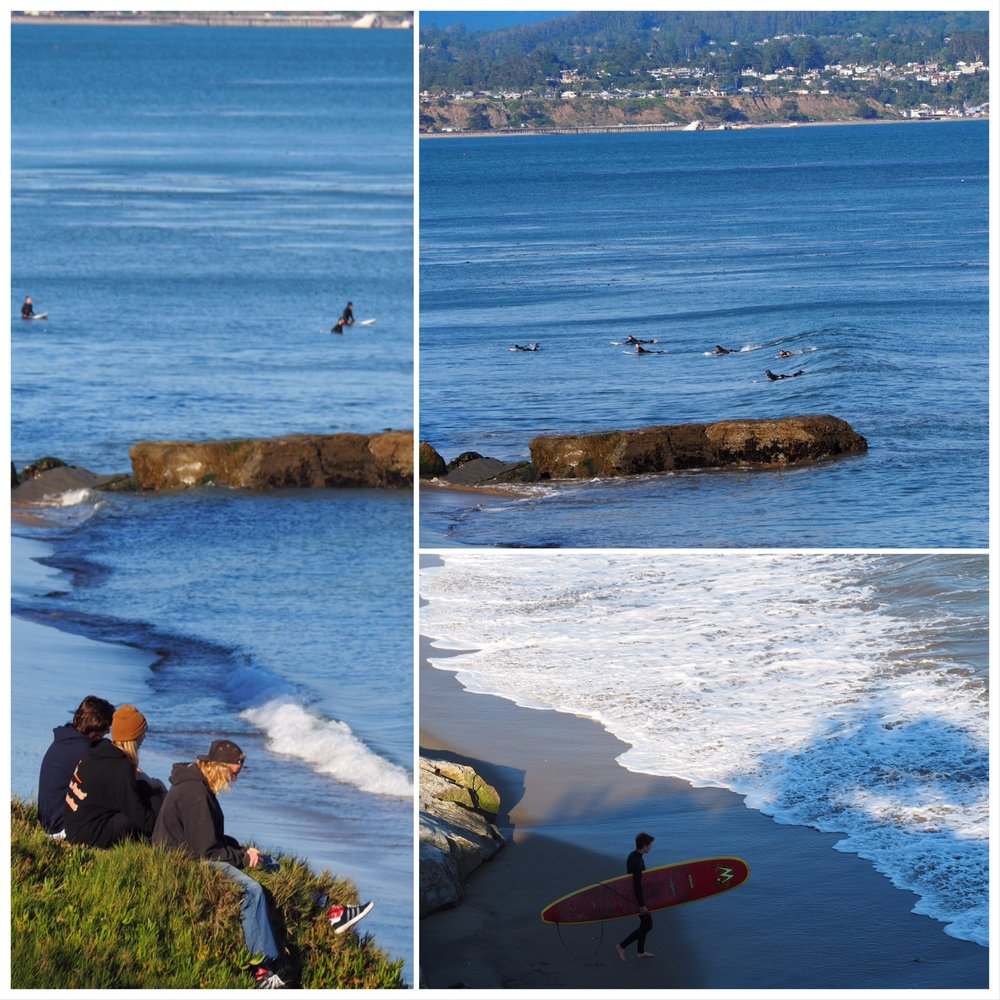 afternoon offshores and small waves at 38th and 41st street