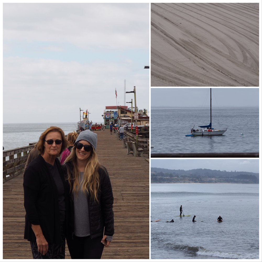 before saying bye, Mia and my mom and I walked through Capitola on Monday morning. Stopped for some good coffee before hitting the road.