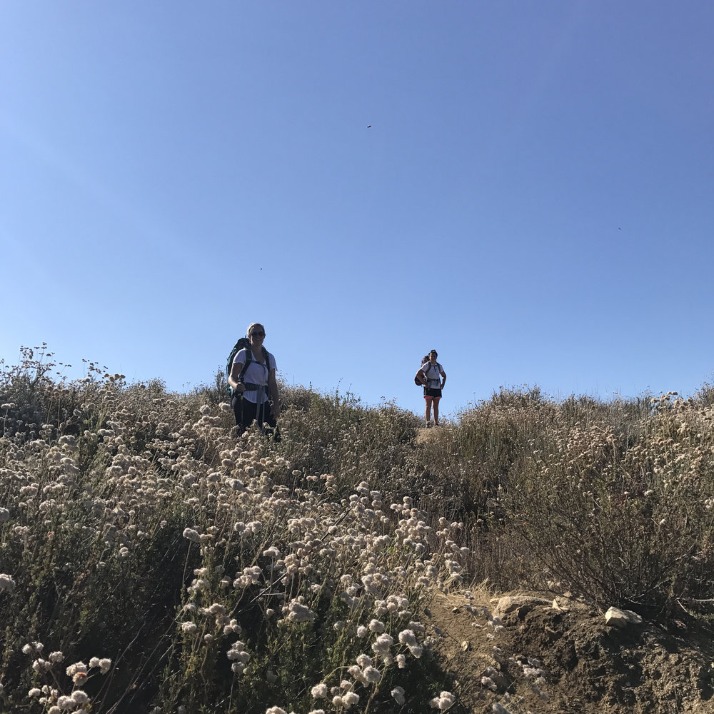 Mia and Syd, backpacking summiteers