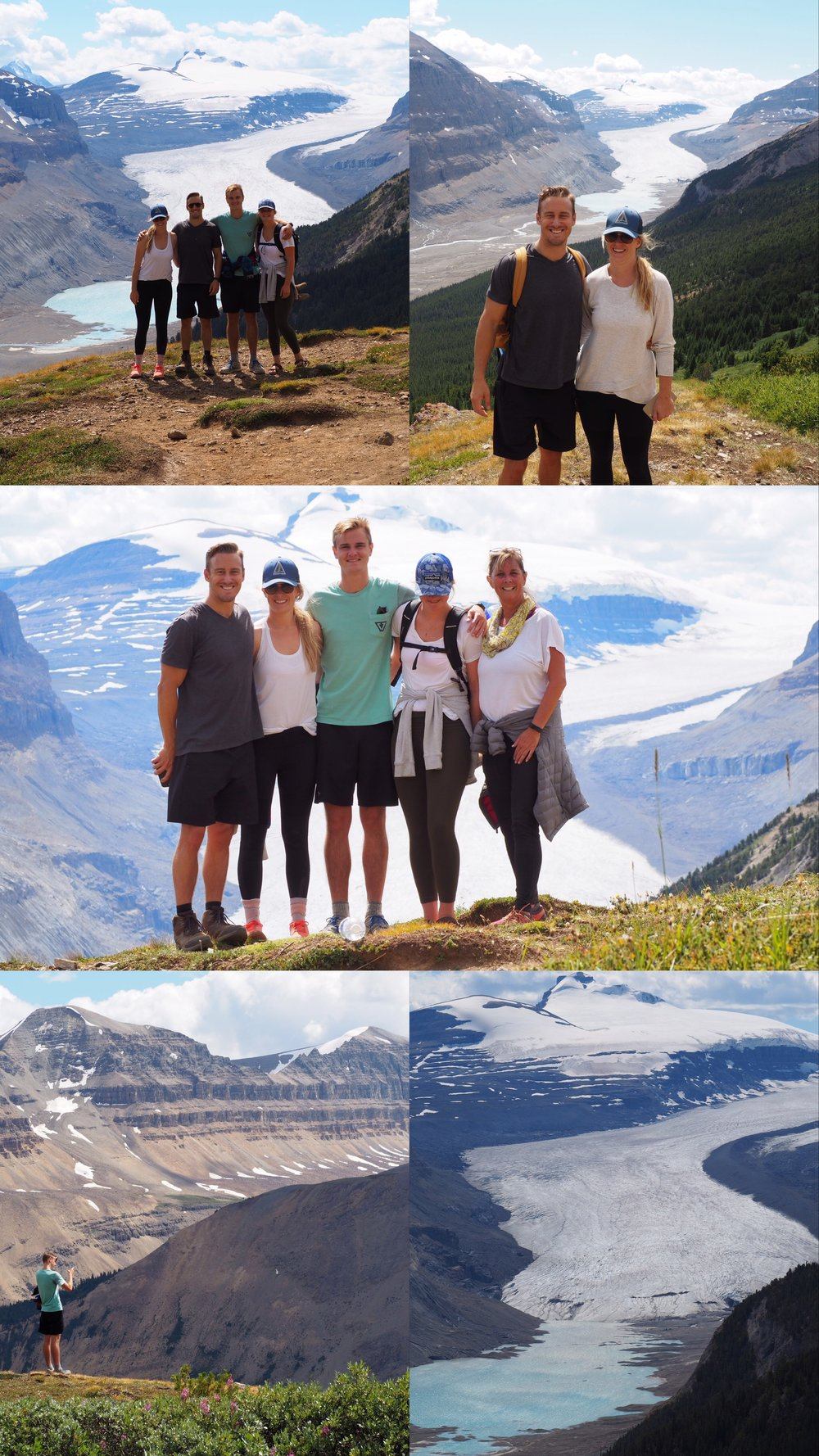 hike up to Parker Ridge and views of the Columbia Icefield glacier