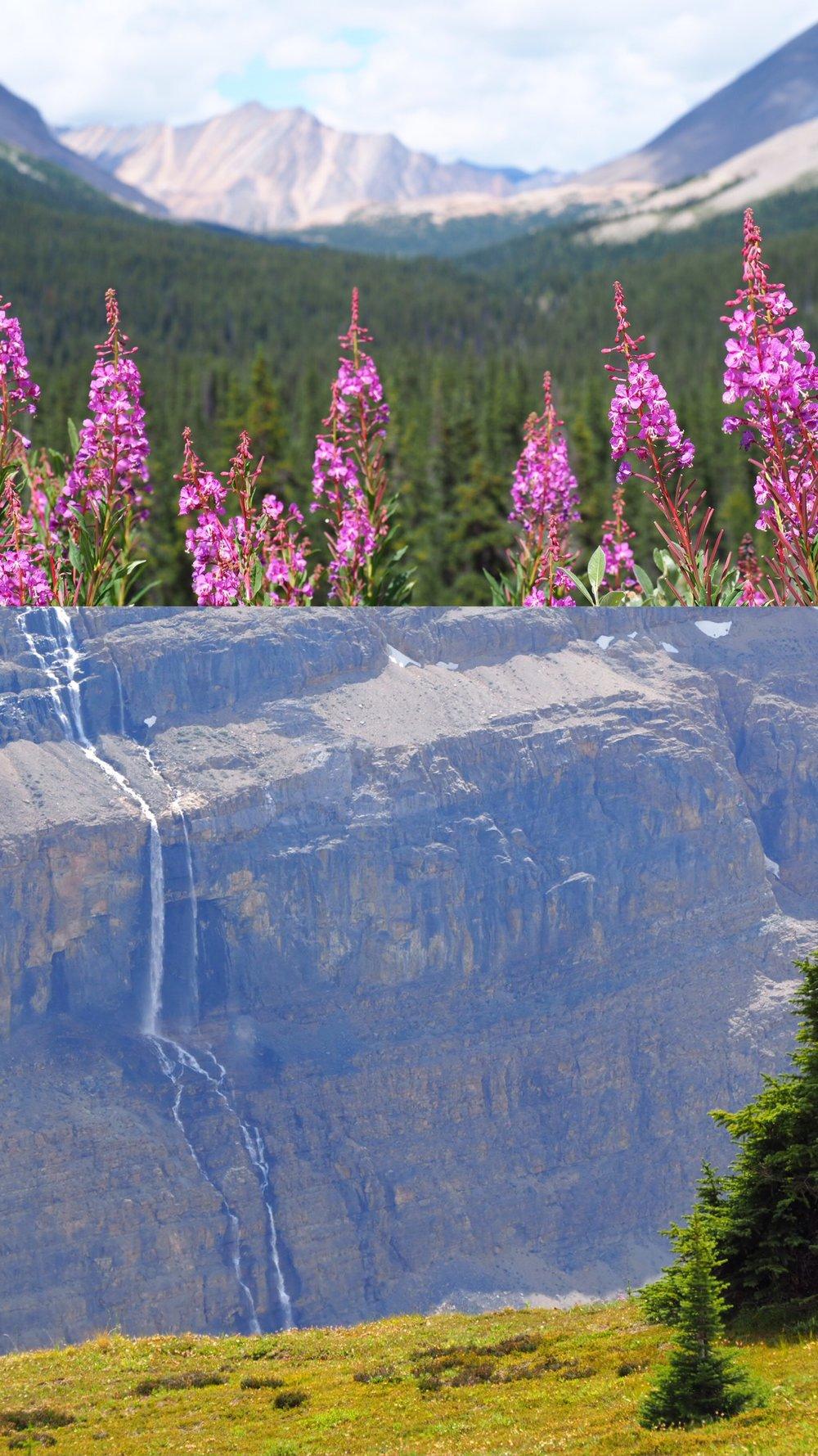 waterfalls coming from Big Bend Peak