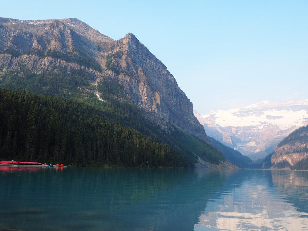 Lake Louise on a smokey morning
