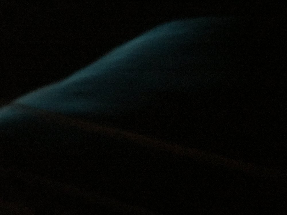 Bioluminescence in the wake as we tested out the windvane autopilot.