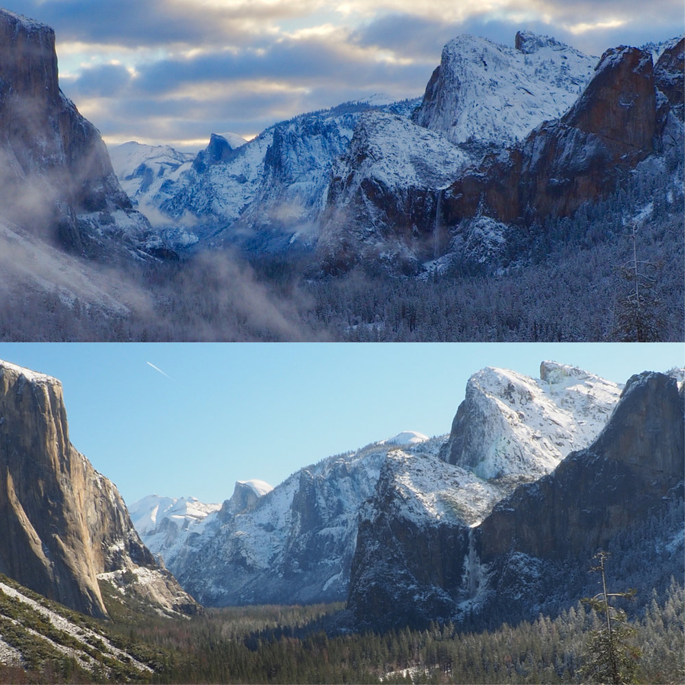 Comparing Saturday morning to Sunday morning from tunnel view