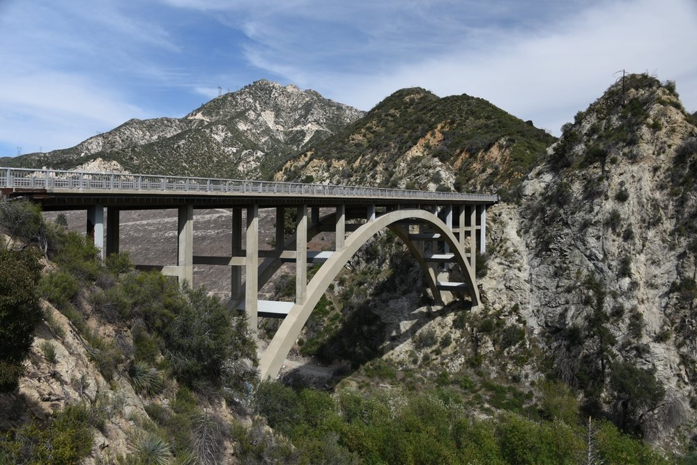 Big Tujunga Canyon Bridge near the dam