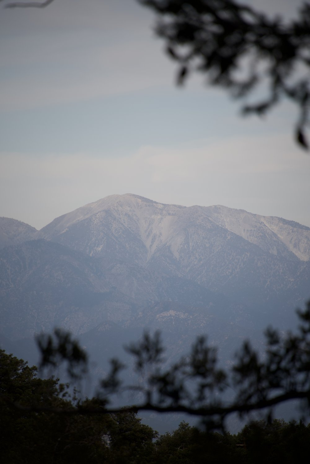 From the Mt Lowe railway tunnel looking towards Mt San Antonio. Also displaying some of the power of this 28-300mm lens
