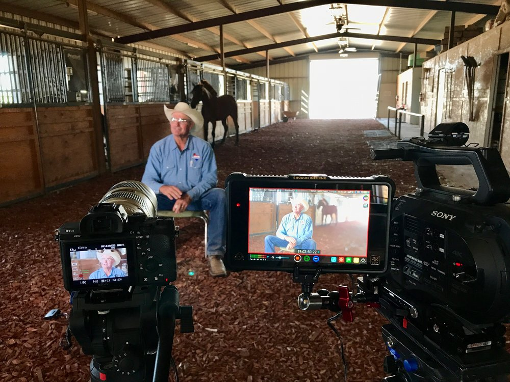 On location interview with the Ranch Foreman