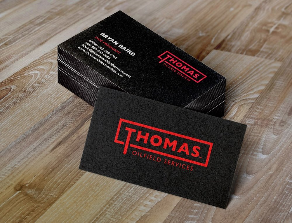 Thomas Oilfield Business Cards