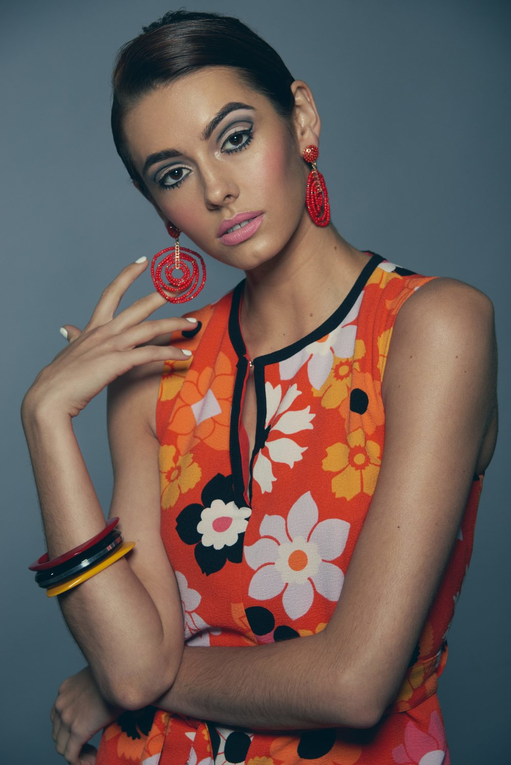 Makeup & Hair: Micaela / Photography: Michael Woodward / Model: Victoris Toland of Kingsley Model & Talent Agency / Sylist: Allison Strang