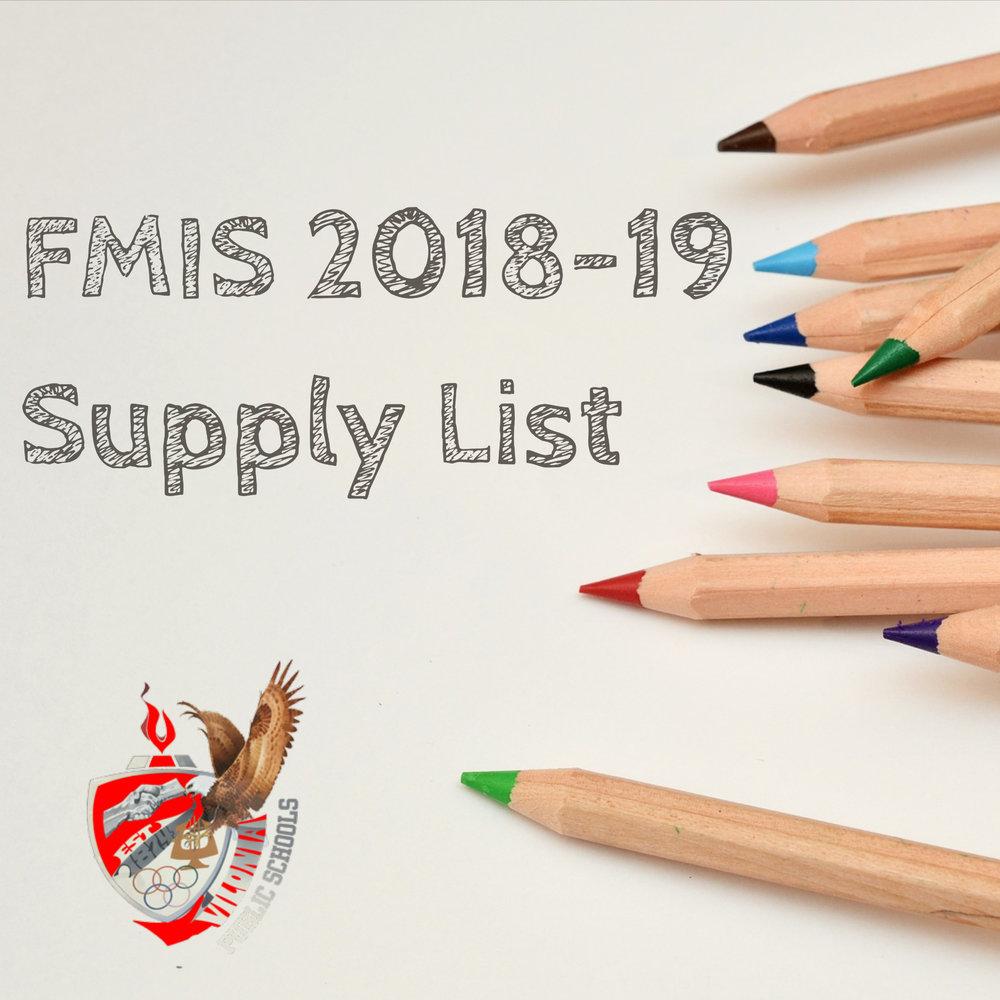 FMIS Supply List