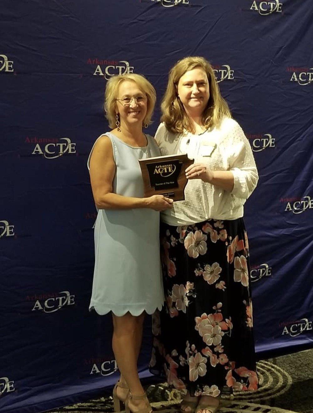 - Vilonia High School teacher Maynette Stroud was awarded the ACTE Teacher of the Year Award.