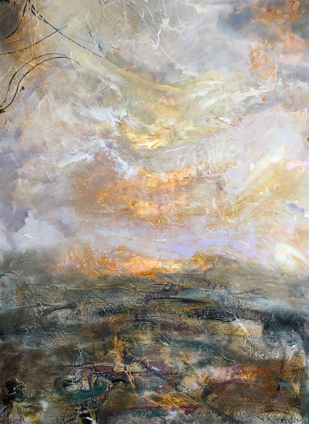 "Stretch the Sky, 47""x35"""