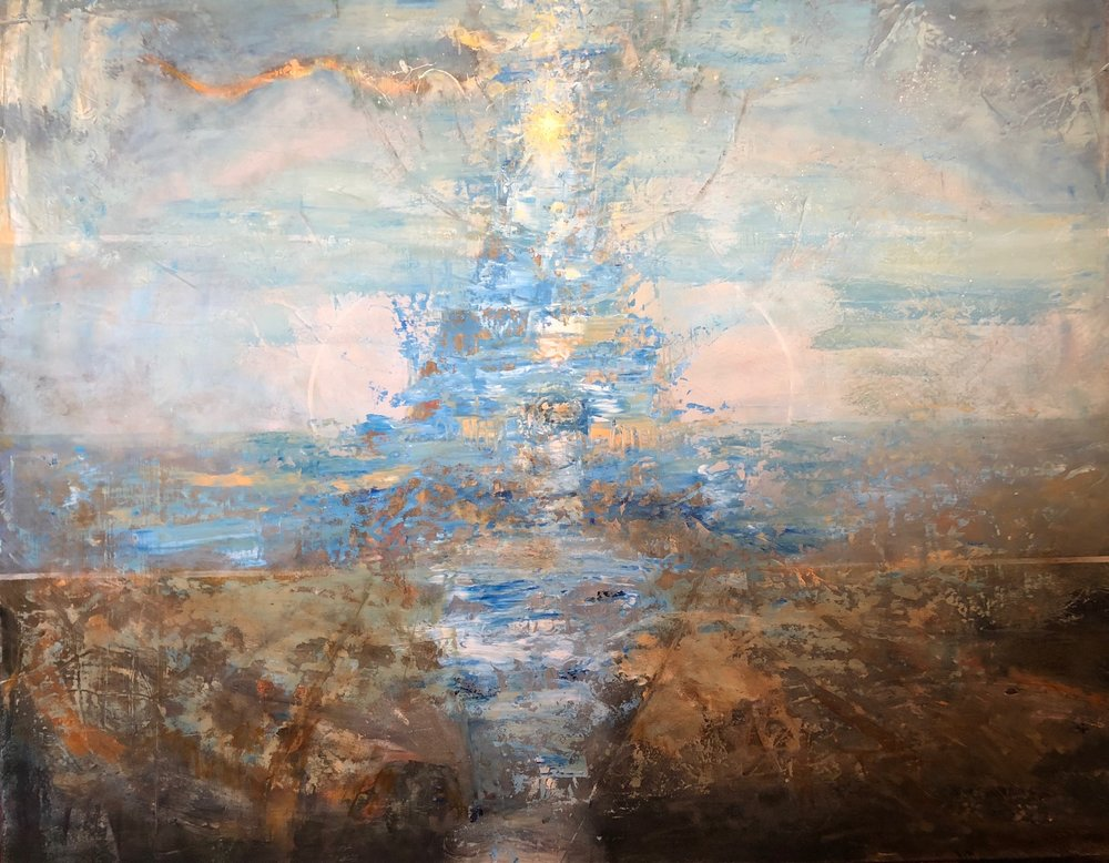 Vida Nova, 47x60, Oil and Mixed Media on panel