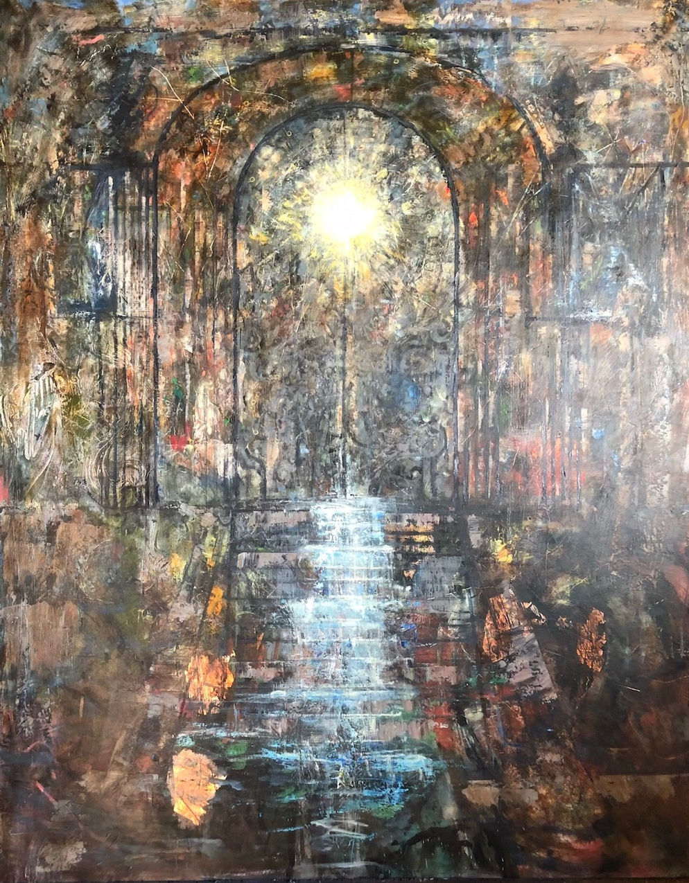 The Promise Gate, 60x47, Oil and Mixed Media on panel