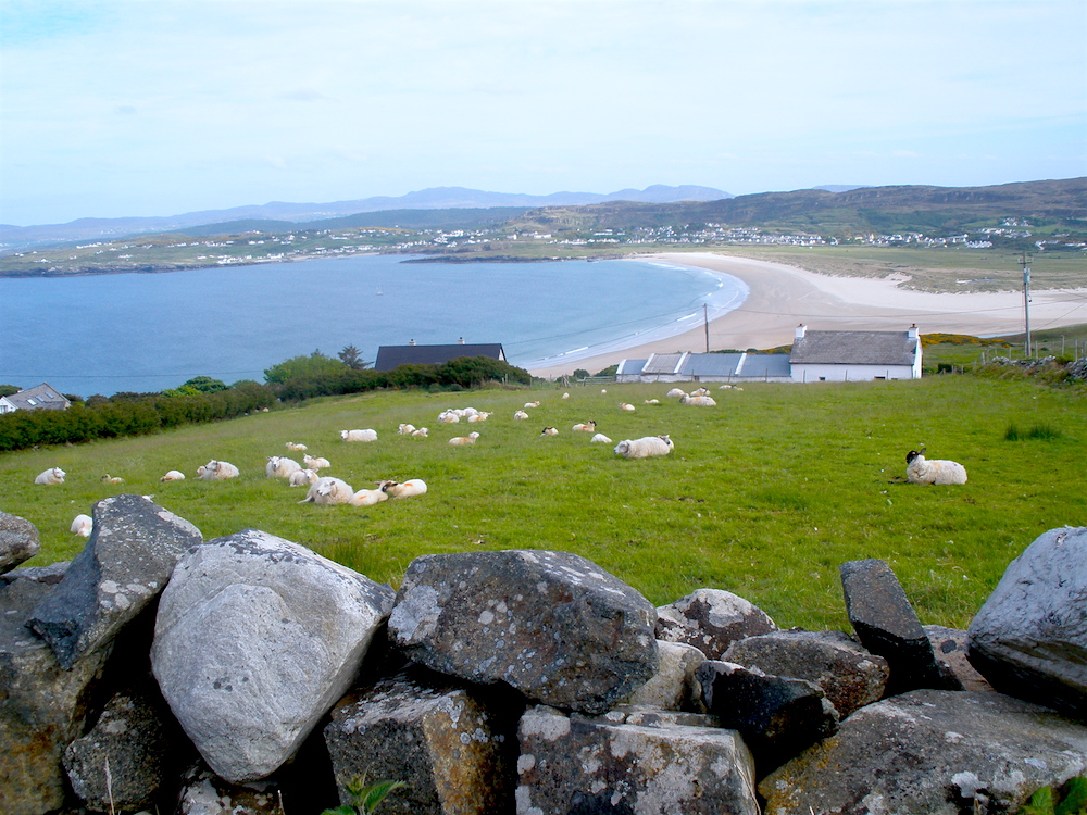 Killyhoey beach and Portnablagh from Horn Head