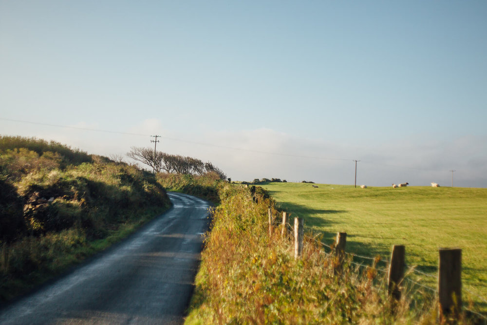 Backroad leading to Dunfanaghy