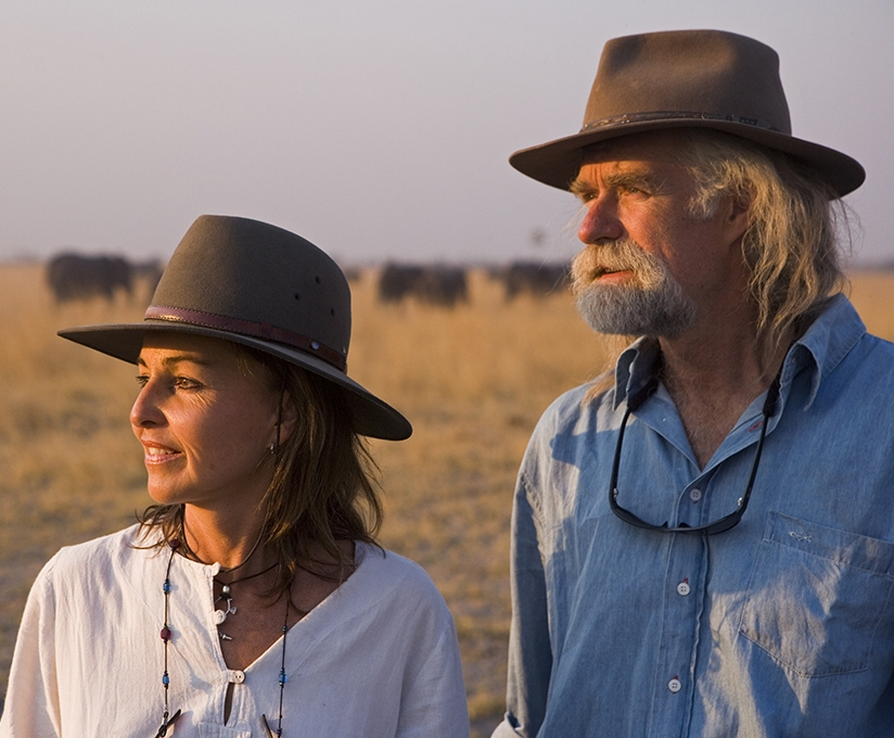 Beverly & Dereck Joubert Filmmakers/Conservationists and National Geographic Explorers-in-Residence, Founders of The Great Plains Foundation and Rhinos Without Borders Click here for more