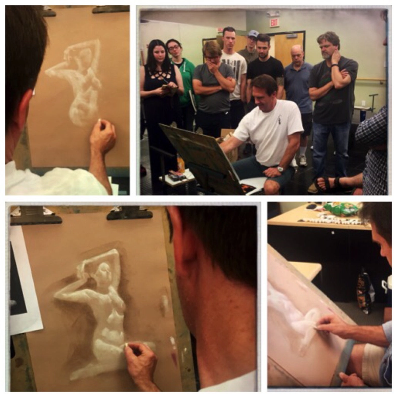John English drawing demonstration.