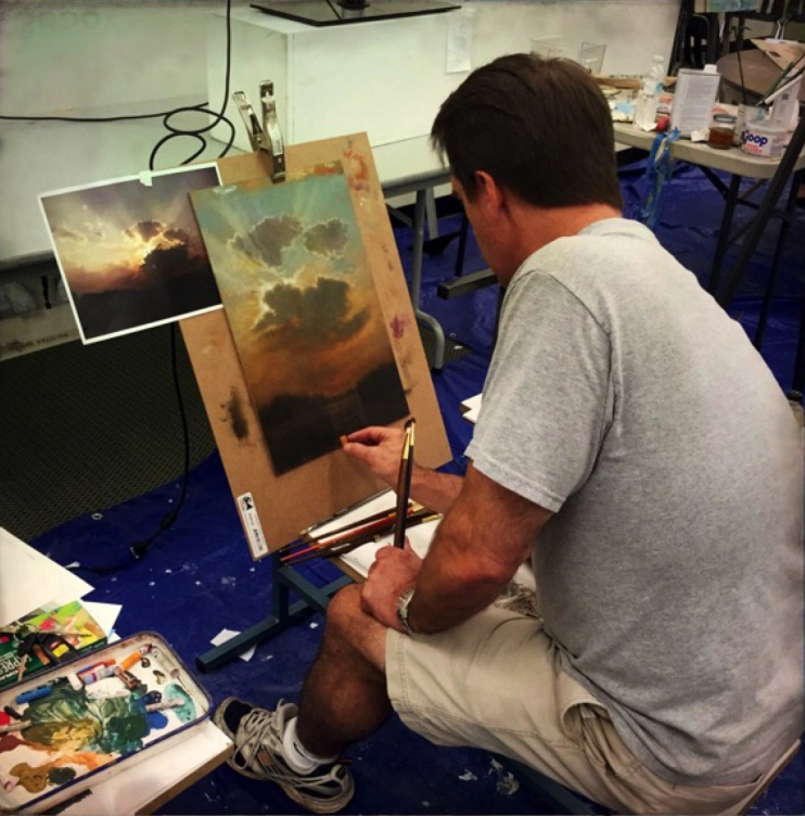 John English Oil Pastel demonstration.