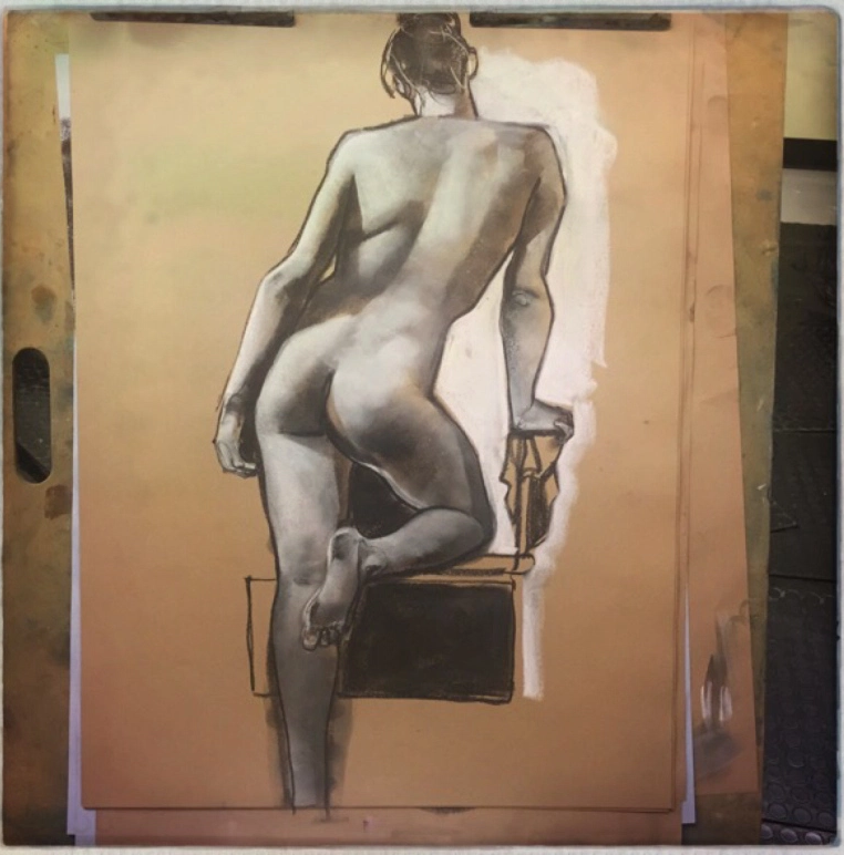 Gary Kelley life drawing.