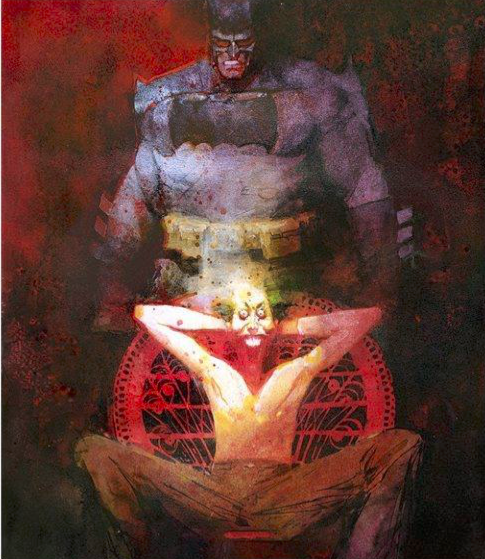 Batman and the Joker by Bill Sienkiewicz.