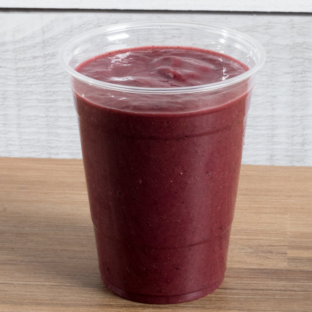 Berry Beautiful (Vata, Pitta, Kapha)    Includes:  Acai, strawberry, raspberry, pineapple, bee pollen, coconut water, date