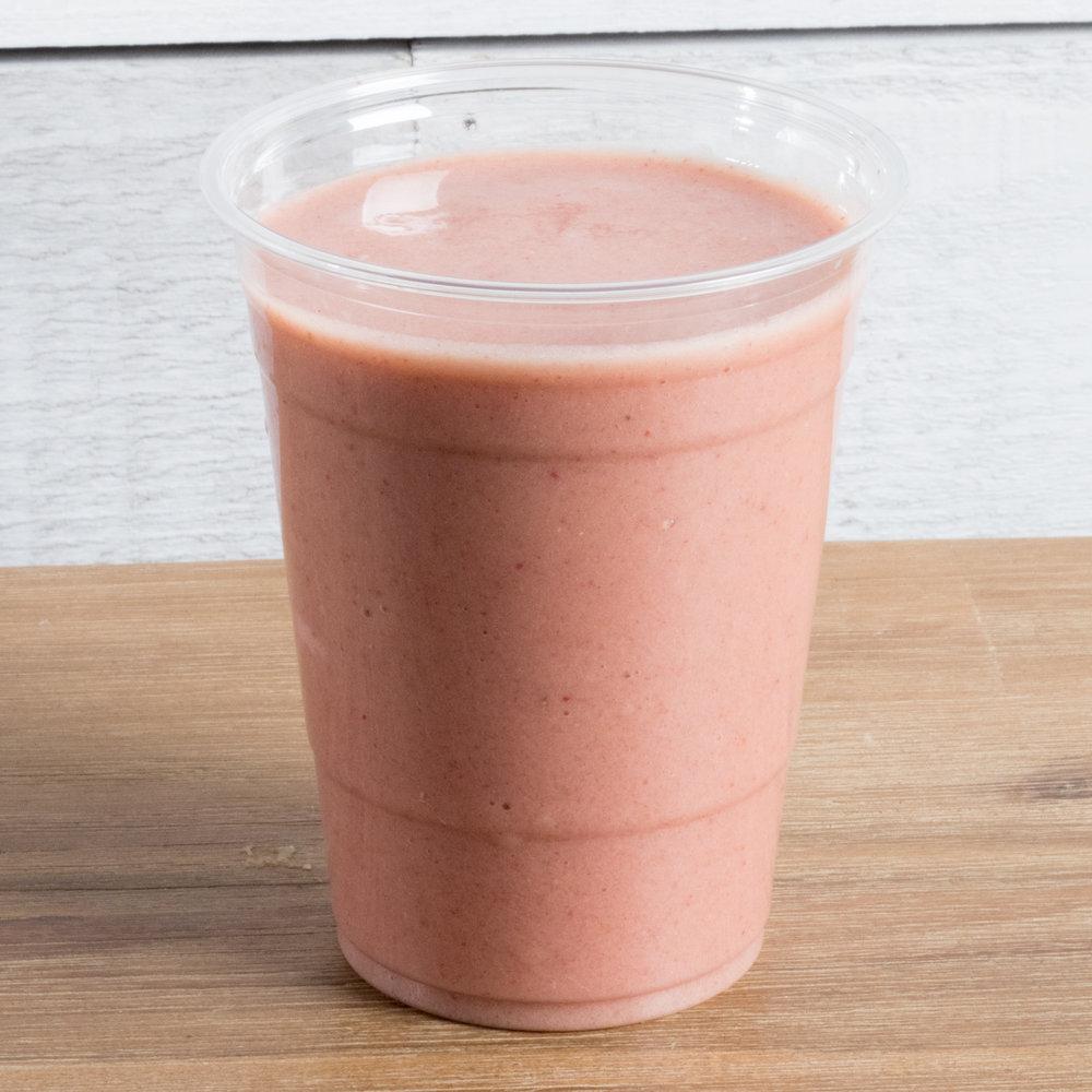 Maca Magic (Vata)    Includes: Banana, strawberry, MACA, cashew milk, vanilla, date, sea salt