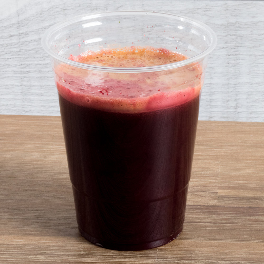 Purple Raven (Vatta, Pitta)     Includes:  Beet, cucumber, carrot, apple, turmeric, ginger, date   Benefits:  energizing, hydrating, anti-inflammatory, immune support, skin support