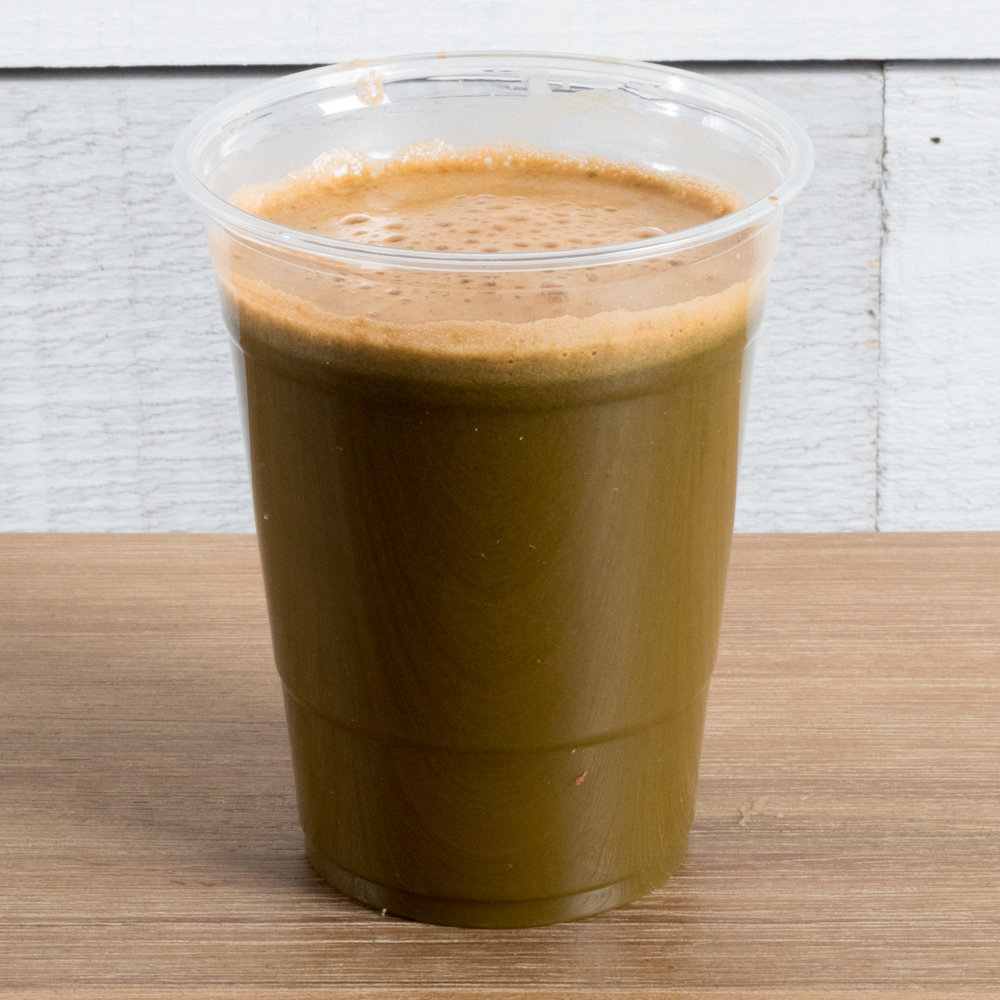 Metabolism Boost   (Vata, Pitta, Kapha)    Includes:  Swiss chard leaves, Romaine leaves, Carrot, Grapefruit, Turmeric   Benefits:  energizing, GI support, metabolism boost, hydrating, immune support
